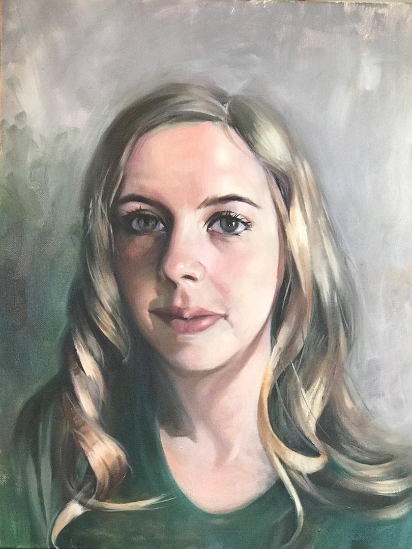 Hailey Portrait Oil on Canvas by Linda Nearon Artist
