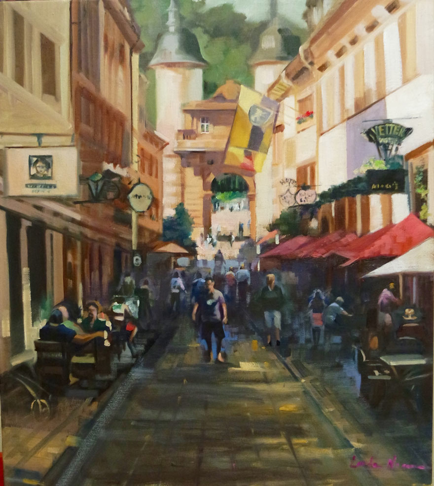 Heidelberg Oil on Canvas by Linda Nearon Artist